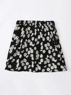 Girls Daisy Floral Wrap Tie Side Skirt – Kidenhouse Black Pattern, Daisy, Girl Skirts, Tie, Boho, Floral, High Waist, Girls, Products