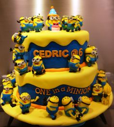 """one in a minion cake 
