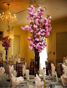 Cherry Blossom Centerpiece, surprisingly love this... I like something with height.