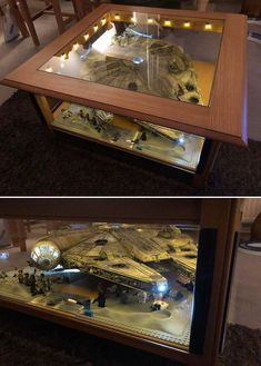 Discover recipes, home ideas, style inspiration and other ideas to try. Star Wars Room, Star Wars Art, Lego Star Wars, Nerd Room, Gamer Room, Legos, Deco Lego, Lego Display Case, Lego Decorations