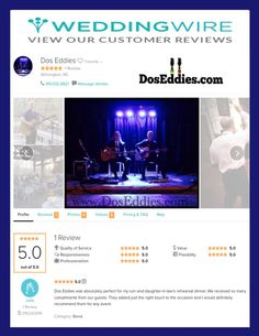 DosEddies.com  - Acoustic band from Wilmington, NC. #weddingwire #acoustic #nc #sc