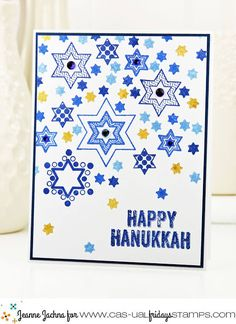 Welcome to the last day of our Holiday 2016 Release Party! We have shown you a fantastical Christmas collection filled with must haves. Hanukkah Crafts, Hanukkah Decorations, Christmas Hanukkah, Happy Hanukkah, Hannukah, Christmas Cards To Make, Holiday Cards, Xmas, Christmas Cards