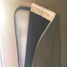 RV Window Curtains - How to make insulated window coverings for your RV.  #rv #rvliving #rvrenovation #camper
