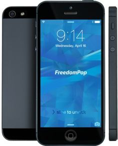 Refurbished Apple iPhone 5 Smartphone w/ FREE FreedomPop Phone Service for $349