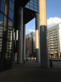 Buildings near Rotterdam central station