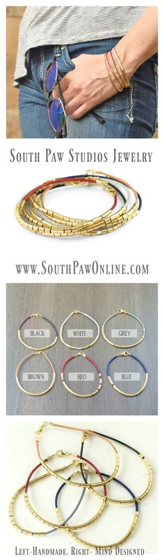 The best jewelry is the kind that is multipurpose and that you can wear  all of the time – effortlessly. These leather bracelets come in white,  black, grey, red, natural and royal blue. The leather on the bracelet  makes it a perfect accessory to pair with your jeans, but the 14/20  gold-filled beads, help to give it a fancier look -- which means you can  also wear it with that little black dress. Great for layering as a  subtle piece to balance out other flashier bracelets…