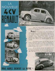 catalogue literature brochure RENAULT 4 CV