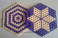 Crafti Musings..: More Sparkling Beaded Coasters - 8 bead circle