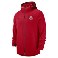 ead8a41bbc93 Nike College Dri-FIT Showtime (Ohio State) Men s Full-Zip Hoodie Size