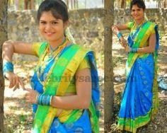 Tamil Actress in Semi Silk Saree   Saree Blouse Patterns
