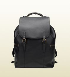 black leather backpack ~Gucci $3900 http://www.gucci.com/us/styles/325790A7MOV1000