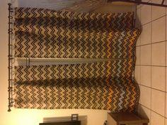 DIY chevron burlap curtains