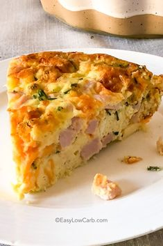 Easy Crustless Ham and Cheese Quiche is a quick and easy meal! Perfect for a low carb/keto breakfast or dinner! Easy Crustless Ham and Cheese Quiche is a quick and easy meal! Perfect for a low carb/keto breakfast or dinner! Keto Quiche, Ham And Cheese Quiche, Low Carb Quiche, Quick Quiche, Cheddar Cheese, Quiche Crustless, Crustless Quiche Lorraine, Gluten Free Quiche Recipes Crustless, Ham And Swiss Quiche
