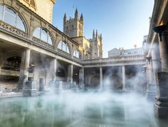 Explore the Roman Baths that lie at the heart of Bath. You can feel the heat of the thermal water, see the Sacred Spring and learn how the Romans liked to relax thousands of years ago.