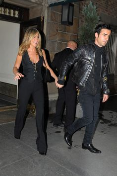 Justin Theroux & Jennifer Aniston leave for her premiere of Lifetime's Five in New York City 2011