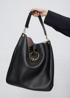J.W. Anderson Large Hobo Pierce Bag (Black)