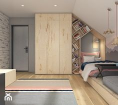 Interesting layout for teen Kids Room Design, Home Room Design, House Design, Girl Bedroom Designs, Kids Bedroom, Cool Kids Rooms, Teenage Room, Attic Rooms, Loft Spaces