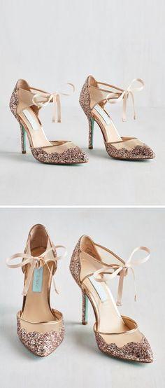 Rose gold sparkle heels - AMAZING!