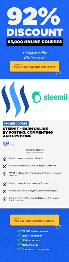 Steemit – Earn Online By Posting, Commenting And Upvoting Entrepreneurship, Business #onlinecourses #onlineuniversitytips #onlineeducationcollege  Learn how to earn cryptocurrneny through social network Steemit and convert it into your local currency Want to earn from every interaction you do on the social network? Want to earn from each and every content you create on your blog? Do you feel tha...
