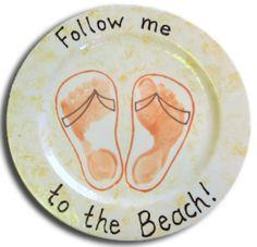 Flip flop footprint plate