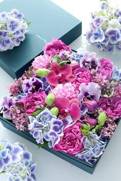 Flowers in a box - blog du I'llony | Flowbulous / Florist Jardin du I'llony