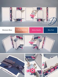 Tutoriel Home-Deco-Mini-Album « Mini Collection Tout Est Plus Rose Photo Album Scrapbooking, Mini Scrapbook Albums, Diy Scrapbook, Albums Bts, Home Deco, Mini Albums Photo, Mini Album Scrap, Scrapbook Background, Mini Album Tutorial