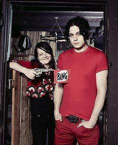 Jack and Meg White. Meg White, Jack White, White Boys, Red And White, The White Stripes, Rock And Roll Bands, Miles Davis, I Love Music, Shades Of White