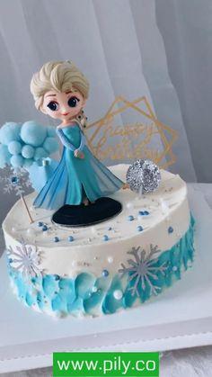 Elsa Birthday Cake, Frozen Themed Birthday Cake, Frozen Theme Cake, Themed Cakes, Elsa Frozen Cake, Frozen Fondant, Elsa Cakes, Cake Decorating Designs, Cake Decorating Videos
