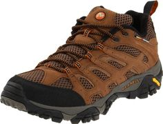 $ 88.75 Merrell Men's Moab Ventilator Hiking Shoe,Earth,9 M US M-Select DRY moisture-wicking mesh lining M-select FRESH odor prevention Bellows tongue Shock-absorbing air cushion heel Sticky Vibram outsole Let feet breathe while attacking the trails in this low-top, multi-sport hiker.