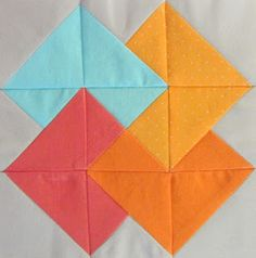 "OOoohhhhh! Super fun ""card trick"" block by Jennifer of 42 Quilts."