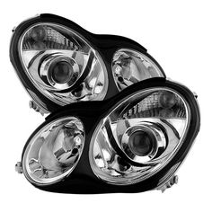 Headlights Assembly Pair Set for 05 06 07 Mercedes-Benz C230 C240 C280 C320 C350