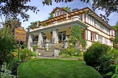A 1912 Edwardian mansion in the Rockland neighborhood across from Government House, Abbeymoore Manor is an award-winning Victoria B.