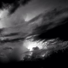 Thunderstorm Passing By  #mikefl99 #ello #weather #sky #clouds #thunderstorms #ipodphotography #black #white #B&W