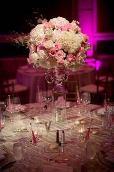 Pink And Gold Wedding Centerpieces images