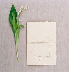 elegant simple wedding invitations via oncewed.com