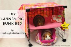 DIY Guinea Pig Bunk Bed Tutorial - I'd love to try something similar for my chinchillas. It looks so cute.