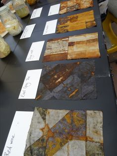 Dyeing and mark making with rust workshop run by Jule Mallett (website… Shibori, Textile Art, Textiles Techniques, Art Techniques, Impression Textile, How To Dye Fabric, Dyeing Fabric, Fabric Paper, Scrappy Quilts