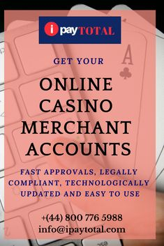 We can guide you with step by step process of obtaining a casino and online gaming merchant account.