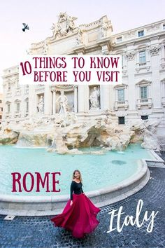 Thinking of visiting Rome? We've gathered all of our best Rome travel tips -- including how to SAVE MONEY, what to PACK, how to stay SAFE and more! Italy Travel Tips, Rome Travel, Travel Destinations, Travel List, Travel Europe, Travel Goals, European Travel, Italy Information, Travel Information
