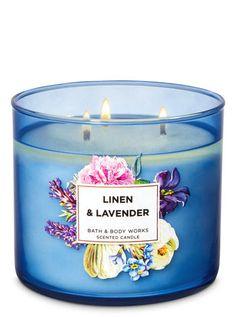 Linen Lavender Candle by Bath & Body Works Bath Candles, 3 Wick Candles, Scented Candles, Candle Jars, Lavender Candles, Bath Body Works, Bath And Body Works Perfume, Perfume Hermes, Perfume Versace