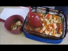 Easy Vegetable Soup, Vegetable Recipes, Yummy Recipes, Soup Recipes, Yummy Food, Portable Stove, Work Meals, Oven Cooking, Mini Foods