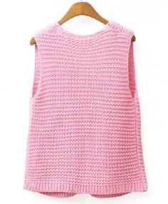 Chunky Knit Open Front Vest Crochet Patterns, Vest, Knitting, Sweaters, Fashion, Bikini Swimwear, Templates, Stitching, Sweater Vests