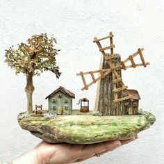 Häuser vom Meister More_na_ladoni / Art Objects / WT, - Holz Wooden Wall Hooks, Deco Nature, Wall Key Holder, Beach Images, Driftwood Crafts, Miniature Houses, Fairy Houses, Houses Houses, Wood Houses