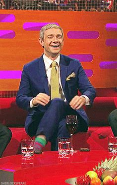 Martin Freeman is beautiful. I could watch this all day long.