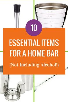 Top Ten Essential Items for a Home Bar (Not Including Alcohol!) You don't need a bar to have a home bar but you do need some bartender essentials. Here are ten of them to start you making cocktails at home (affiliate links in post) Easy Drink Recipes, Best Cocktail Recipes, Mint Recipes, Sangria Recipes, Schnapps Recipe, Peach Schnapps, Classic Cocktails, Summer Cocktails, Schnapps
