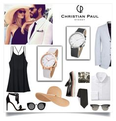 """""""Christian Paul Watch Contest"""" by kittiena ❤ liked on Polyvore featuring Victoria's Secret, Eugenia Kim, Burberry, Paul Smith, title of work, Quay, Ray-Ban, Jimmy Choo, Alexandre Birman and Elwood"""
