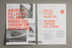 Spanish studio Lo Siento (previously) is constantly producing stunning graphic design pieces and this promotional leaflet for the new Design Museum of Barcelona (DHUB) is… Layout Design, Design De Configuration, Graphisches Design, Graphic Design Layouts, Print Layout, Grid Design, Graphic Design Inspiration, Design Posters, Design Ideas