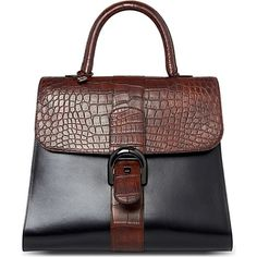 Delvaux Brilliant alligator trimmed extra large tote