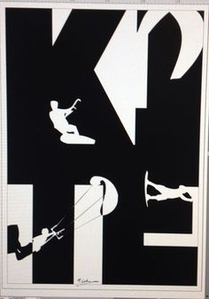 Working on new #poster #wallsticker. #kite #negativ #typo #design #logo #kiteboarding