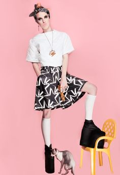 Marla Singer Photography - CLEO  For more of my recent work please check: http://marla.lt/ https://www.facebook.com/marlasingerphotography?fref=ts http://marlasingerphotography.tumblr.com/   #fashion #photoshoot #fashion_editorial #pink #gold #golden #long_socks #wedges #female_model #swag #gangsta #headband #sphynx #sphynx_cat #cat #Marla_Singer #Marla_Singer_photography